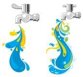 skraj running vatten royaltyfri illustrationer