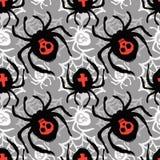 Skraj sömlös grov grungemodell för spindel, templa för modern design vektor illustrationer