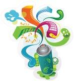 Skraj spray vektor illustrationer