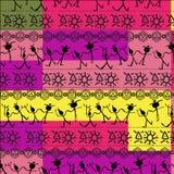 Skraj stam- afrikanskt tryck vektor illustrationer