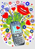 skraj telefon royaltyfri illustrationer