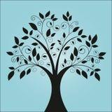 skraj tree vektor illustrationer