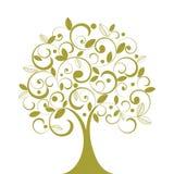 skraj tree för coil vektor illustrationer