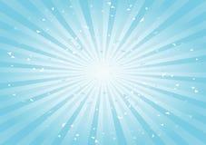 Skrapad abstrakt bakgrund Mjukt tänd - blå Cyan strålbakgrund horisontal vektor stock illustrationer