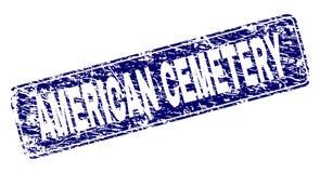 Skrapad AMERIKANSK KYRKOGÅRD inramad rundad rektangelstämpel royaltyfri illustrationer