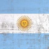 Skrapad Argentina flagga vektor illustrationer