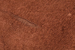 Skrapad brun nubuck Royaltyfri Foto