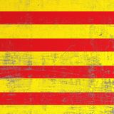 Skrapad Catalonia flagga Vektor Illustrationer