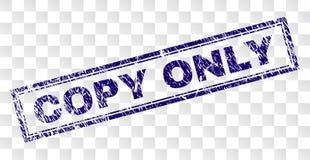 Skrapad ENDA rektangelstämpel för KOPIA stock illustrationer