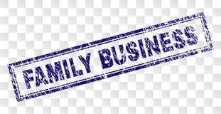 Skrapad FAMILJEFÖRETAGrektangelstämpel vektor illustrationer