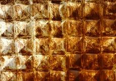 Skrapad rostig metallyttersida Royaltyfri Foto