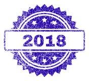 Skrapad skyddsremsa för 2018 stämpel Royaltyfri Illustrationer