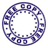 Skrapad texturerad för rundastämpel för FRI KOPIA skyddsremsa royaltyfri illustrationer