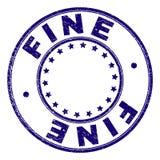 Skrapad texturerad FIN rund stämpelskyddsremsa royaltyfri illustrationer