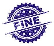 Skrapad texturerad FIN stämpelskyddsremsa stock illustrationer