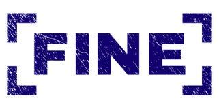 Skrapad texturerad FIN stämpelskyddsremsa mellan hörn royaltyfri illustrationer