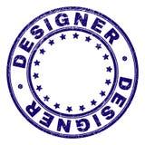 Skrapad texturerad FORMGIVARE Round Stamp Seal stock illustrationer