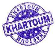Skrapad texturerad KHARTOUM stämpelskyddsremsa vektor illustrationer