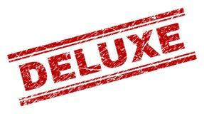 Skrapad texturerad LYX- stämpelskyddsremsa stock illustrationer