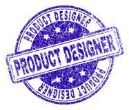 Skrapad texturerad PRODUKTFORMGIVARE Stamp Seal royaltyfri illustrationer