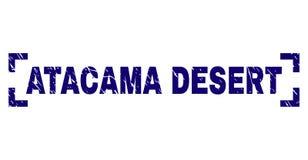 Skrapad texturerad skyddsremsa för stämpel för ATACAMA-ÖKEN mellan hörn vektor illustrationer