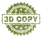 Skrapad texturerad stämpelskyddsremsa för KOPIA 3D royaltyfri illustrationer
