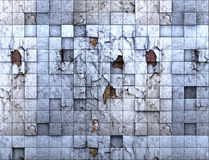 skrapad vägg arkivbild