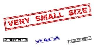 Skrapade rektangelstämplar för Grunge MYCKET LITET FORMAT stock illustrationer