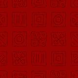 Skrapade symboler på Red Arkivbilder