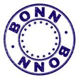 Skrapade texturerade BONN rundar stämpelskyddsremsan vektor illustrationer
