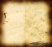 skrapat bränt gammalt papper Royaltyfria Foton