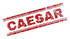 Skrapat texturerade CAESAR Stamp Seal stock illustrationer