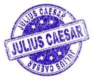 Skrapat texturerade JULIUS CAESAR Stamp Seal vektor illustrationer