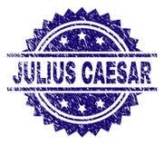 Skrapat texturerade JULIUS CAESAR Stamp Seal royaltyfri illustrationer
