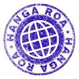 Skrapat texturerade stämpelskyddsremsan för HANGA ROA vektor illustrationer