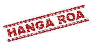 Skrapat texturerade stämpelskyddsremsan för HANGA ROA royaltyfri illustrationer