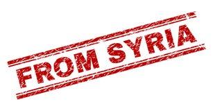 Skrapat texturerat FRÅN den SYRIEN stämpelskyddsremsan stock illustrationer