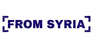 Skrapat texturerat FRÅN den SYRIEN stämpelskyddsremsan inom hörn stock illustrationer