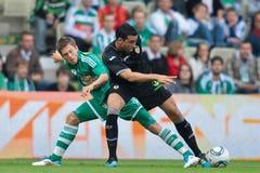 SKRapid gegen Valencia FC Stockfotografie