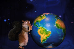 Skrat and the earth Stock Photos