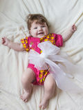 Skratt och leenden på ett småbarn Royaltyfria Foton