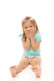 skratta barn för flicka Arkivfoto