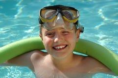 skratta blinka för pojke Royaltyfria Bilder