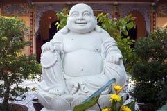 Skratta Buddha Statu3 Arkivbild