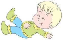 skratta för barn som är litet Royaltyfria Bilder