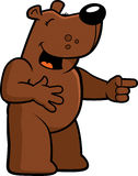 skratta för björn Arkivbild