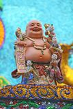 skratta för buddha fett Royaltyfri Bild
