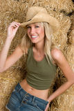 skratta för cowgirl fotografering för bildbyråer