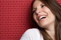 skratta för flicka Royaltyfri Fotografi