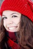 skratta för flicka som är älskvärt Royaltyfria Bilder